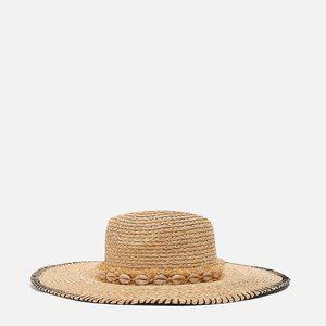 New Zara Raffia Hat with Shell Trim